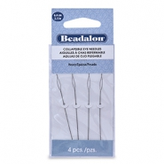 Beadalon Collapsible Eye Needles 6.4mm heavy Silver