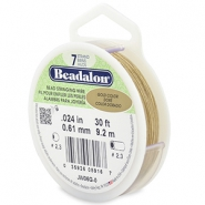 Beadalon stringing wire 7 strand 0.61mm Gold
