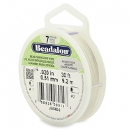 Beadalon stringing wire 7 strand 0.51mm Silver