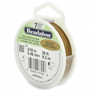 Beadalon stringing wire 7 strand 0.46mm Satin Gold