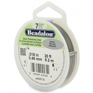 Beadalon stringing wire 7 strand 0.46mm Bright Stainless Steel