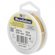 Beadalon stringing wire 19 strand 0.61mm Gold