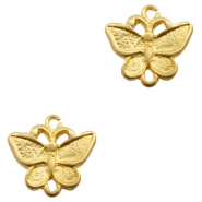 Charms TQ metal connector butterfly Matt Gold (Nickel Free)