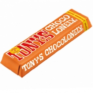 Tony's Chocolonely chocolate bar milk caramel sea salt 47 grams d.n.a.