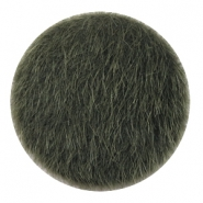 Faux fur cabochons 35mm Army Green