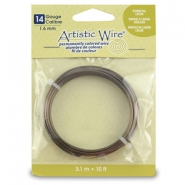 14 Gauge Artistic Wire Antique Brass