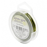 18 Gauge Artistic Wire Olive Green