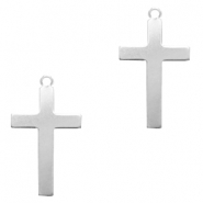 ImpressArt stamping blanks charms cross 33x19mm Alkeme Silver