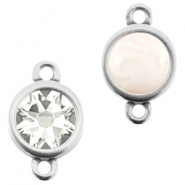 DQ metal setting 2 loops for 7mm cabochon and SS34 flatback stone Antique silver (nickel free)