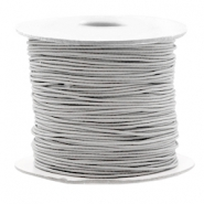 Coloured elastic cord 0.8mm Light Grey