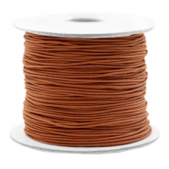 Coloured elastic cord 0.8mm Copper Brown