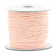 Coloured elastic cord 0.8mm Light Peach