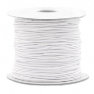 Coloured elastic cord 0.8mm White