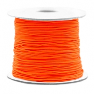 Coloured elastic cord 0.8mm Fluor Orange