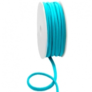 Stitched Elastic Ibiza Ribbon Blue Zircon