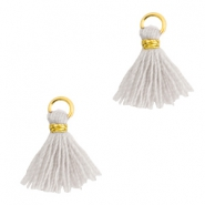 Tassels 1cm Gold-Light Mirage Grey