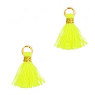 Tassels 1cm Gold-Neon Yellow