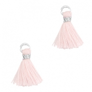 Tassels 1cm Silver-Blushing Bride Rose