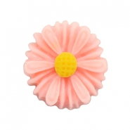 Daisy flower beads 13mm Coral Pink
