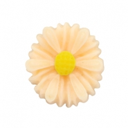 Daisy flower beads 13mm Light Peach