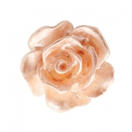 Rose beads 10mm White-Peach Nougat Pearl Shine