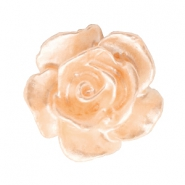 Rose beads 10mm White-Light Peach Nougat Pearl Shine