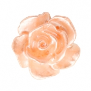 Rose beads 10mm White-Springtime Peach Pearl Shine