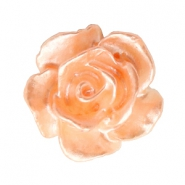 Rose beads 10mm White-Fresh Peach Pearl Shine