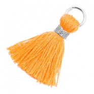 Tassels 1.8cm Silver-Fire Orange