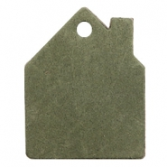 DQ European leather pendants house Dark Olive Green