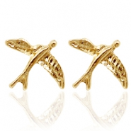 Trendy earrings studs bird Gold