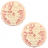 Basic cabochon cameo 20mm bouquet Vintage Rose-Antique Gold