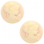 Basic cabochon cameo 20mm Light Peach-Beige