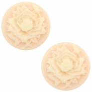 Basic cabochon cameo 20mm rose Light Peach-Beige