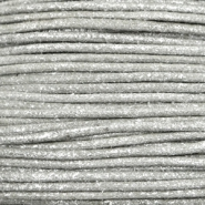 Waxed cord metallic 1.0mm Steel Grey