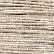 Waxed cord metallic 1.0mm Tan Grey