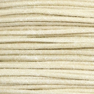 Waxed cord metallic 1.0mm Camel Beige