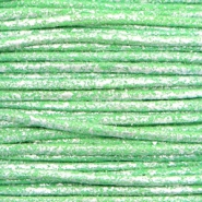 Waxed cord metallic 1.0mm Parrot Green