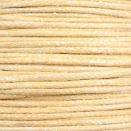 Waxed cord metallic 1.0mm Yellow Beige