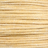 Waxed cord metallic 0.5mm Yellow Beige