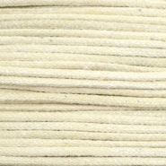 Waxed cord metallic 1.0mm Sand Beige