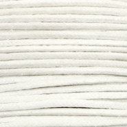 Waxed cord metallic 1.0mm White