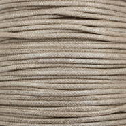 Waxed cord metallic 2.0mm Tan Grey