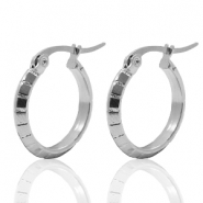 Stainless steel earrings creole 19mm Silver