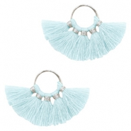 Tassels charm Silver-Light Blue