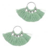 Tassels charm Silver-Vintage Salvia Green