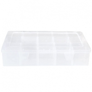 Jewellery display 15 compartment storage box Transparent