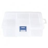 Jewellery display 6 compartment storage box Transparent