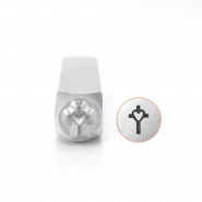 ImpressArt design stamps cross with heart 6mm Silver