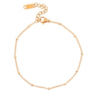 Anklets / Ankle bracelets Stainless steel ball Rose Gold